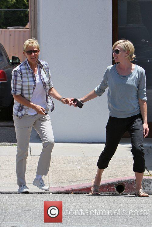 ellen degeneres and wife portia seen leaving 5859877