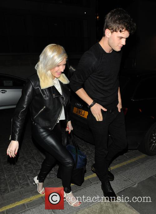 Ellie Goulding and a friend arrive at Zuma...