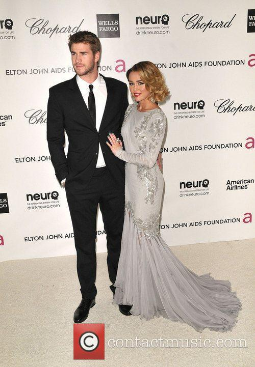 Liam Hemsworth and Miley Cyrus The 20th Annual...