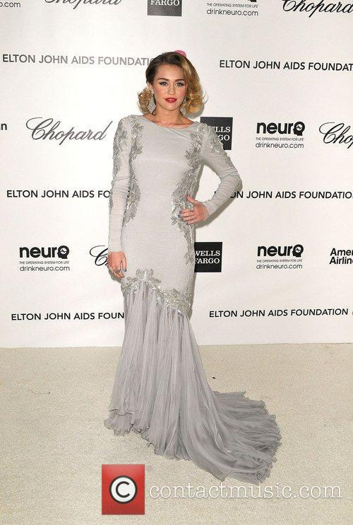 Miley Cyrus The 20th Annual Elton John AIDS...