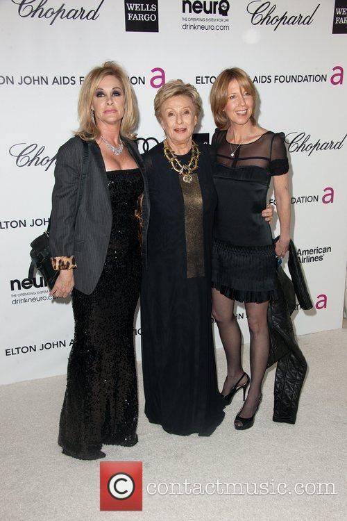 Cloris Leachman and Guest The 20th Annual Elton...