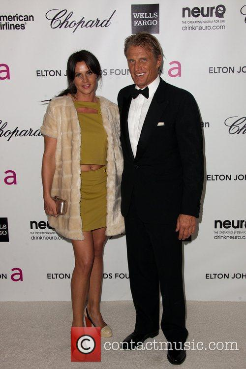Dolph Lundgren and guest The 20th Annual Elton...