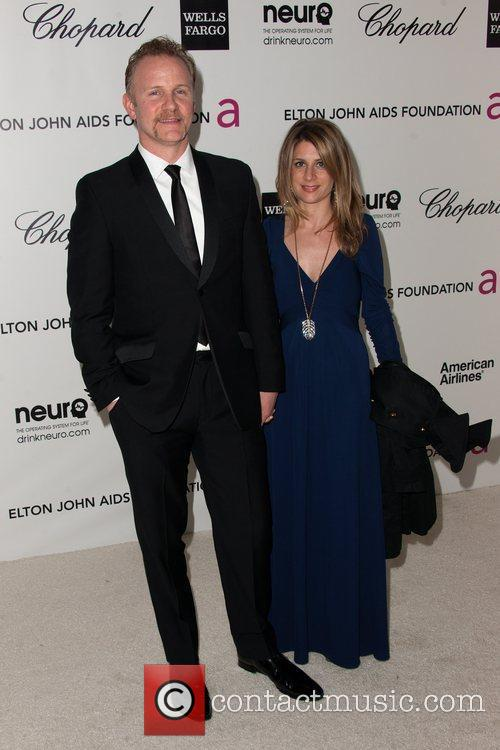 Morgan Spurlock and guest The 20th Annual Elton...