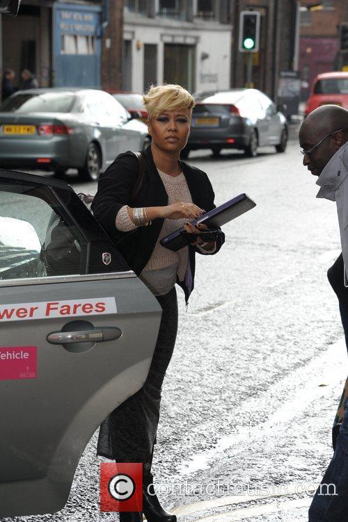 Emeli Sande arrives at the Ritz Manchester hotel...
