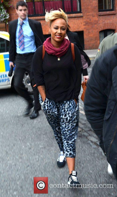 Emeli Sande outside the Olympia Theatre prior to...
