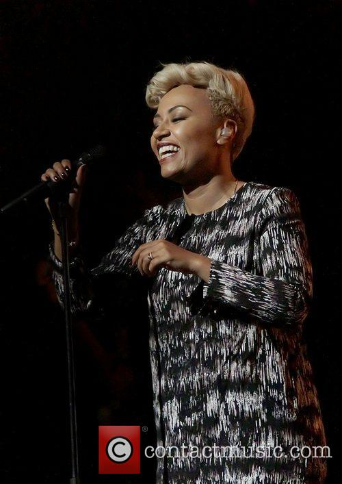 Emile Sande performing at the Manchester Bridgewater Hall.