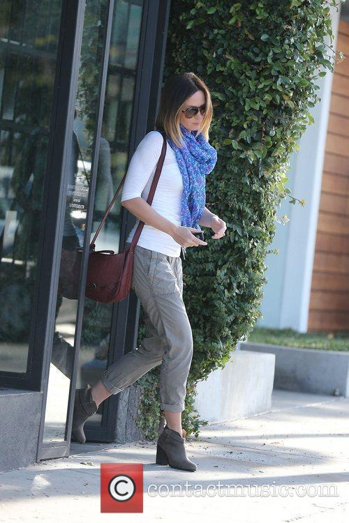 Emily Blunt  exits a hair salon in...