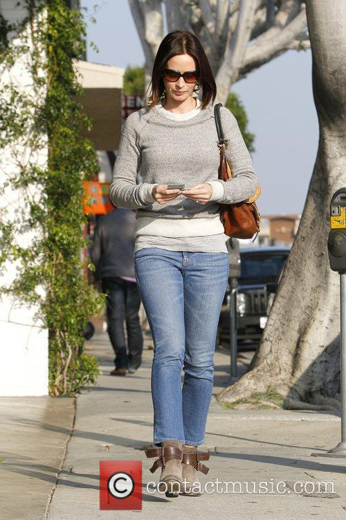 Emily Blunt running errands in Beverly Hills Los...