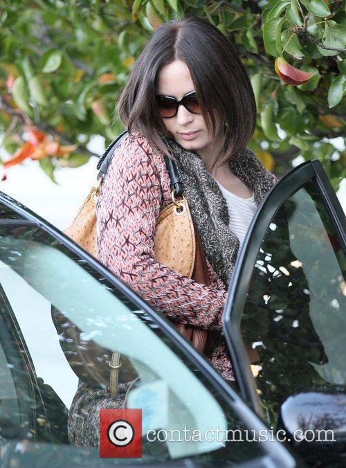 Emily Blunt  returns to her car after...