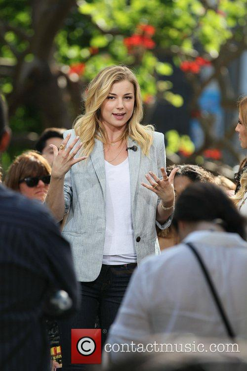 emily vancamp on the entertainment news show 3870702