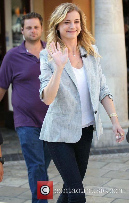 emily vancamp on the entertainment news show 3870723