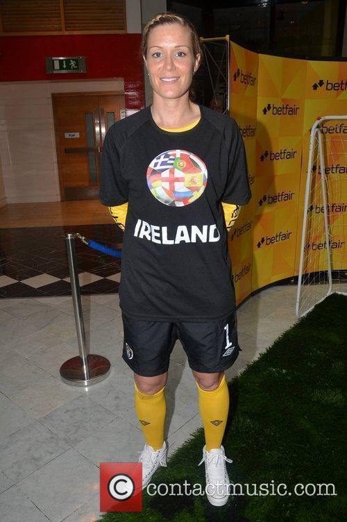 Arsenal Ladies and Ireland Ladies goalkeeper Emma Byrne...