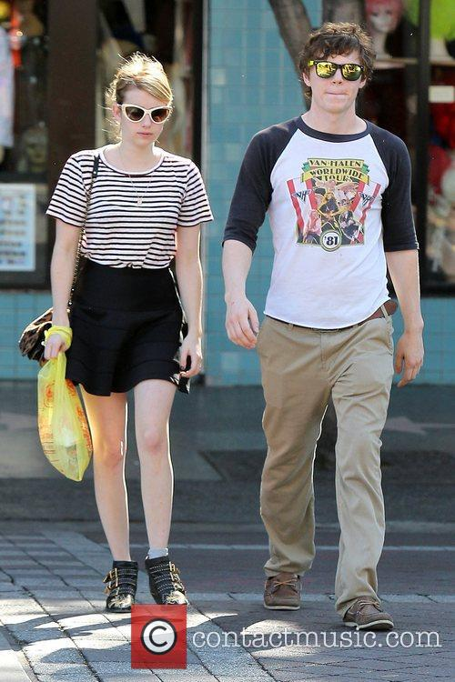 Emma Roberts, Evan Peters, Halloween and West Hollywood 1
