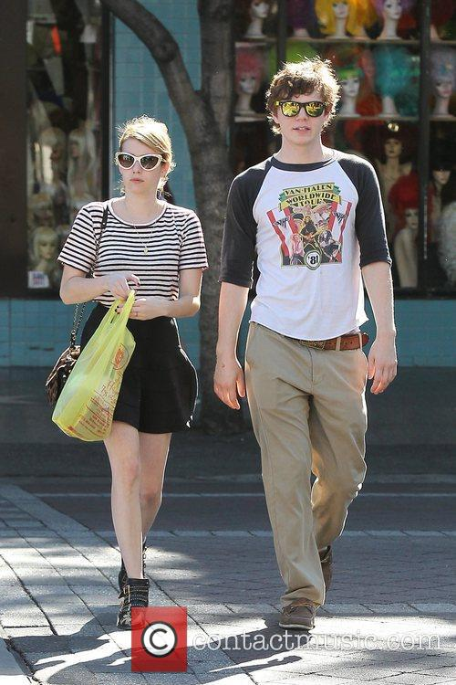 Emma Roberts, Evan Peters, Halloween and West Hollywood 13