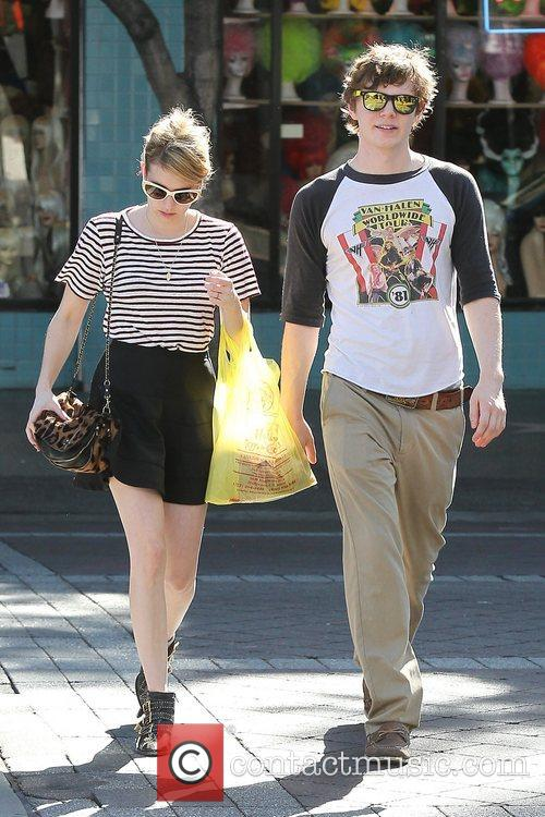Emma Roberts, Evan Peters, Halloween and West Hollywood 11