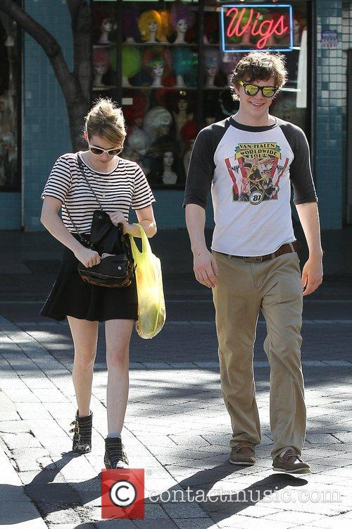 Emma Roberts, Evan Peters, Halloween and West Hollywood 4