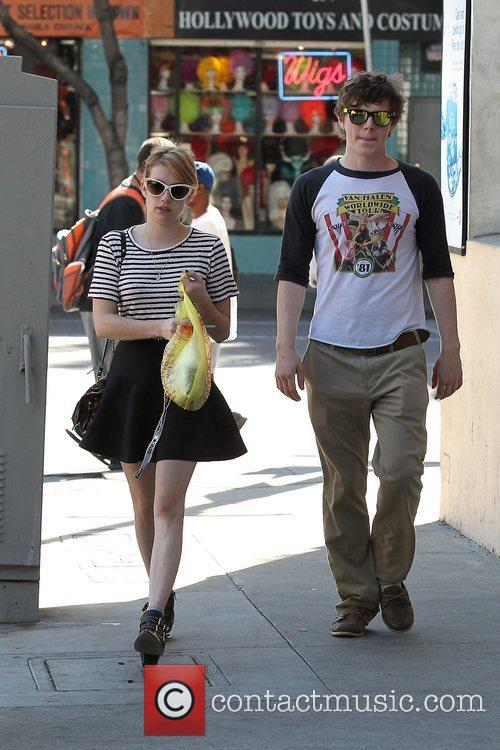 Emma Roberts, Evan Peters, Halloween and West Hollywood 8