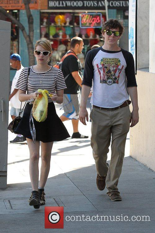 Emma Roberts, Evan Peters, Halloween and West Hollywood 3