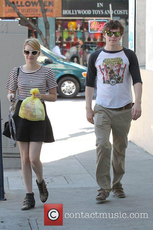 Emma Roberts, Evan Peters, Halloween and West Hollywood 9