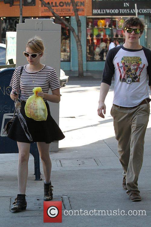 Emma Roberts, Evan Peters, Halloween and West Hollywood 14