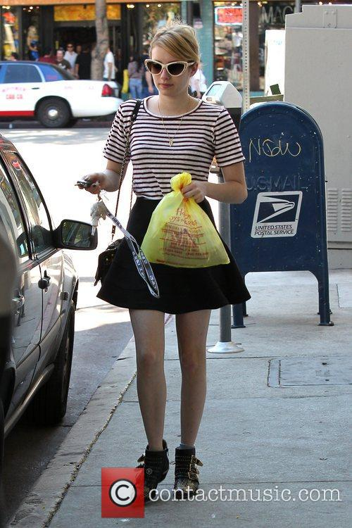 Emma Roberts, Evan Peters, Halloween and West Hollywood 7