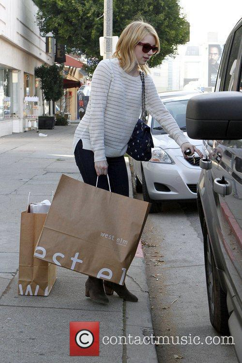 Shopping at West Elm in West Hollywood