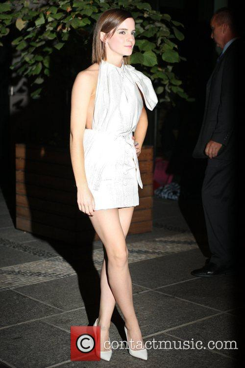 Emma Watson arrivies at the Crosby Hotel New...