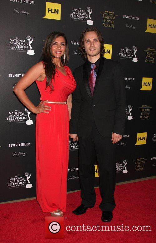 Jonathan Jackson and guest 39th Daytime Emmy Awards...