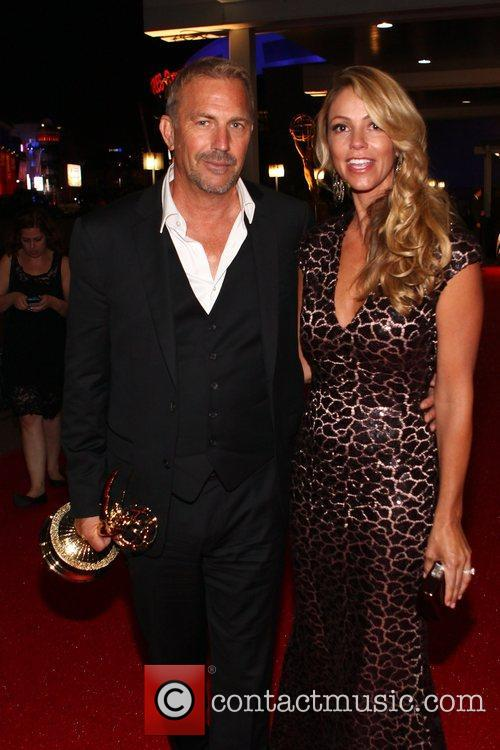 Kevin Costner, Christine Baumgartner and Emmy Awards 2