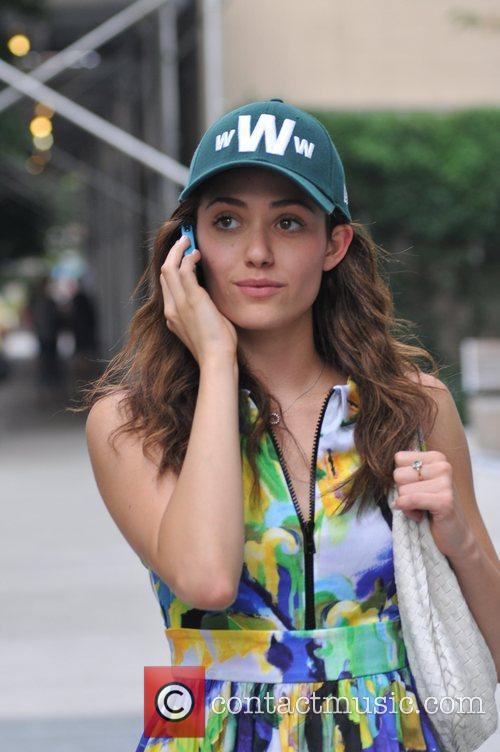 actress emmy rossum seen on her cell 5888197
