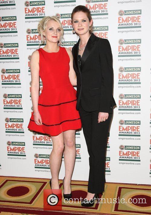 Bonnie Wright and Evanna Lynch 2