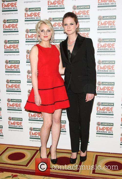 Bonnie Wright and Evanna Lynch 1