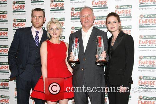 Matthew Lewis, Evanna Lynch, David Yates, Bonnie Wright