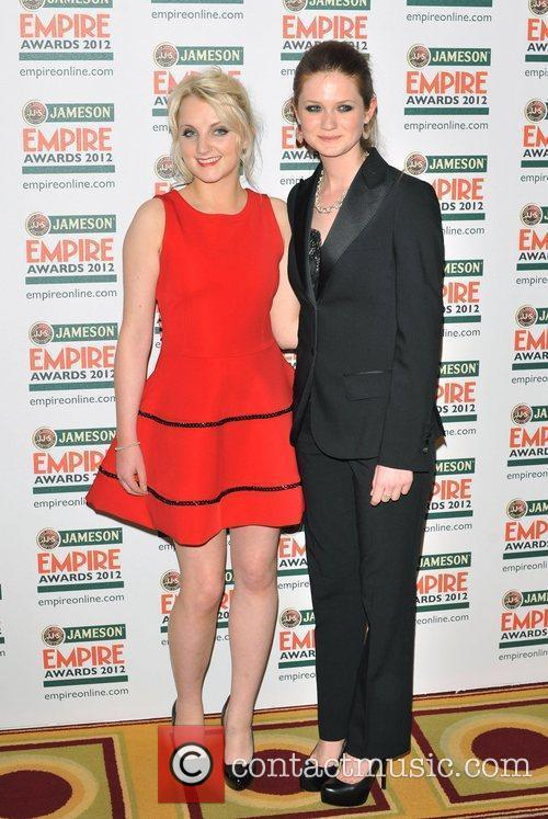 Evanna Lynch, Bonnie Wright and Grosvenor House 1