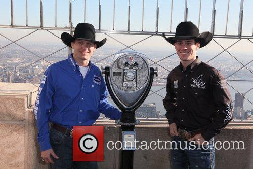 Professional Bull Riders (PBR) Colby Yates and Luke...