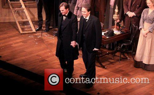 Richard Thomas, Boyd Gaines and cast Opening night...