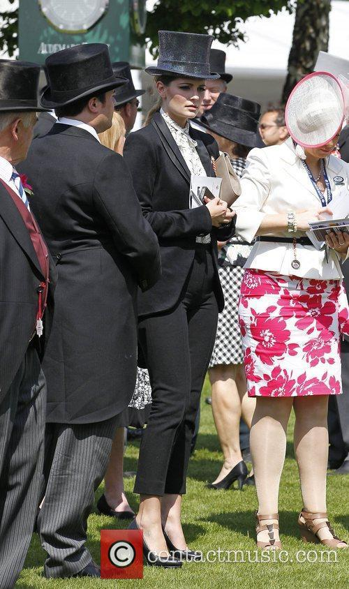 Mischa Barton, in the paddock inspecting the runners...