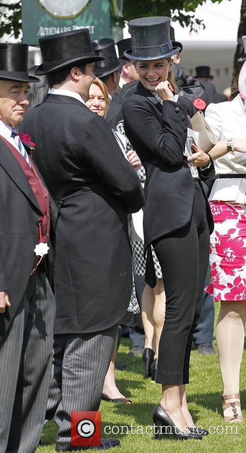 Mischa Barton in the parade ring Epsom Derby...