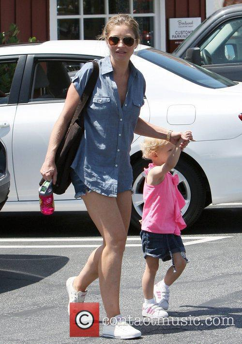 Rebecca Gayheart shopping in Brentwood with daughter Georgia...