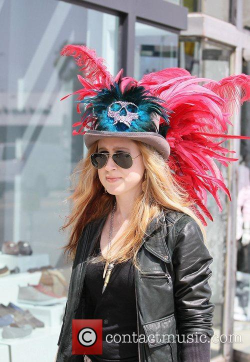 Erica Chase shopping at Flasher on Melrose Avenue...