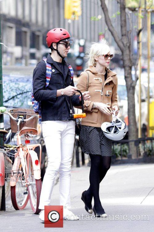 Designer Erin Fetherston and a friend are seen...