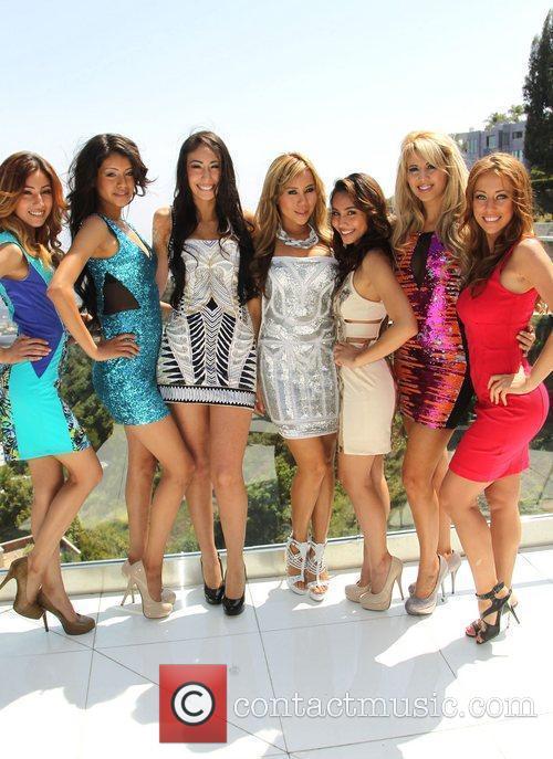 Models Esai Morales hosts Bebe 2012 Summer swimwear...