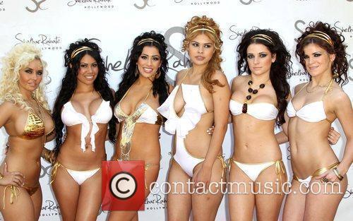 Esai Morales hosts Bebe 2012 Summer swimwear collection