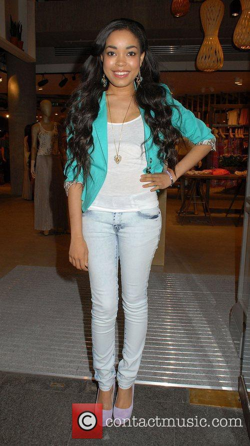 Dionne Bromfield,  at the Esprit store launch...