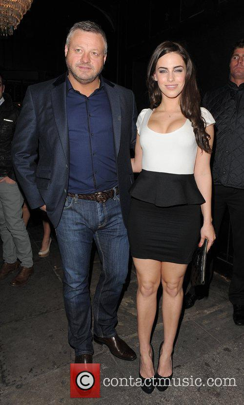 Mick Norcross and Jessica Lowndes enjoy a night...