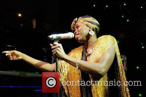 Estelle performs on stage at The Jazz Cafe....