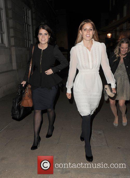 princess eugenie and princess beatrice leaving lou 4187487