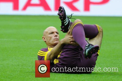 Howard Webb Referee and Officials training before the...