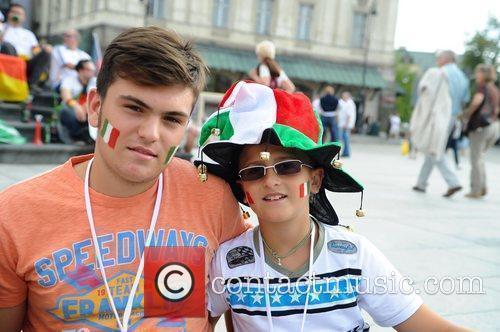 Euro 2012 Football tournament - Germany v Italy...