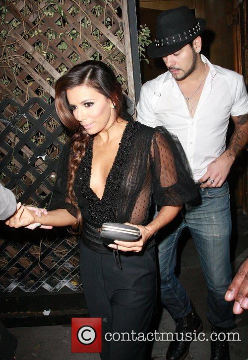 Eva Longoria leaving Beso restaurant